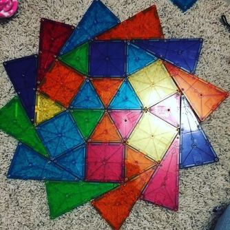 Image from Pinterest because all the ones of my kids building designs on the floor are terrible.