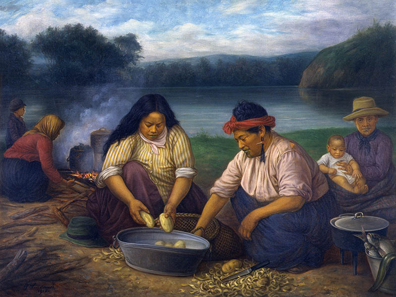 lindauer-maori-women-children-riverbank-potatoes-te-papa-800x600